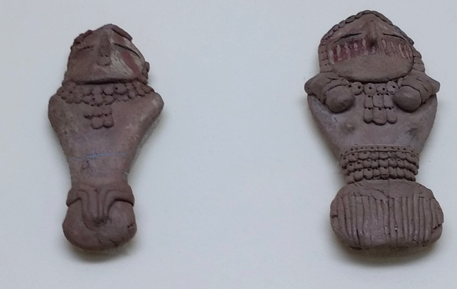 Fremont clay figurines. Observed at The Prehistoric Museum, Price, UT.